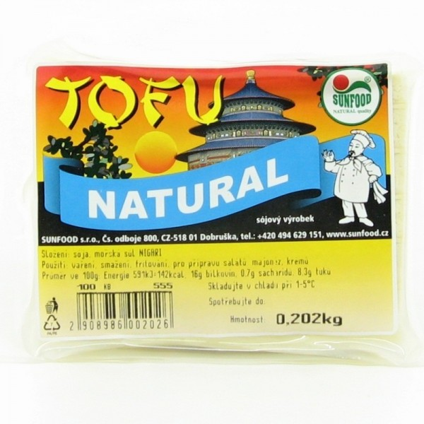 Sunfood natural tofu